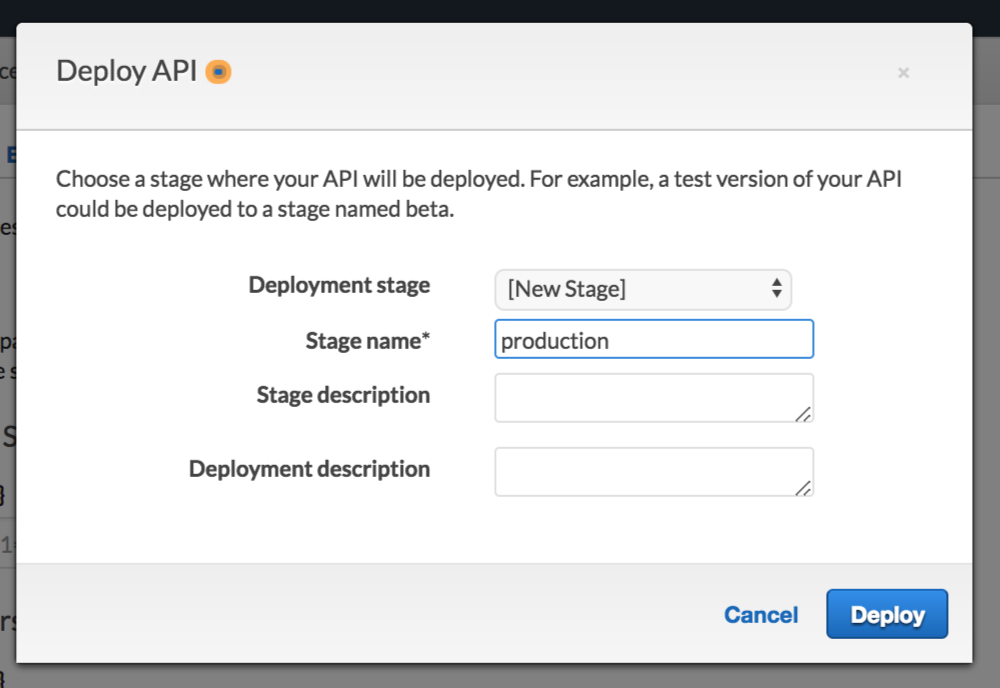 select api stage