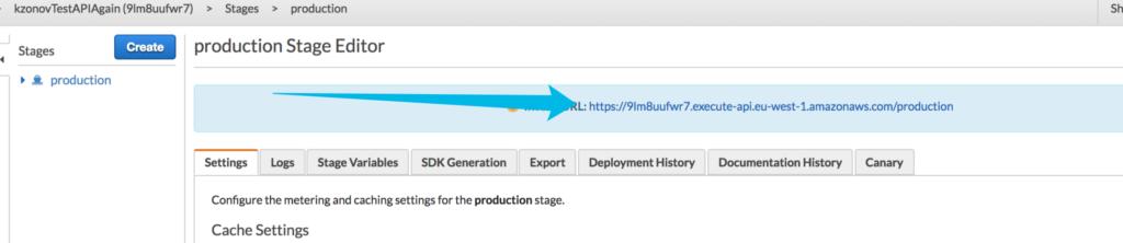 deployed API Gateway